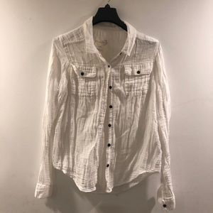Free people button up size large